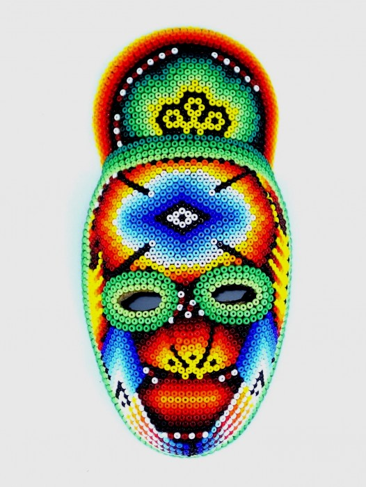 "MINATURE HUICHOL ""KUKA"" MASK – GREEN"