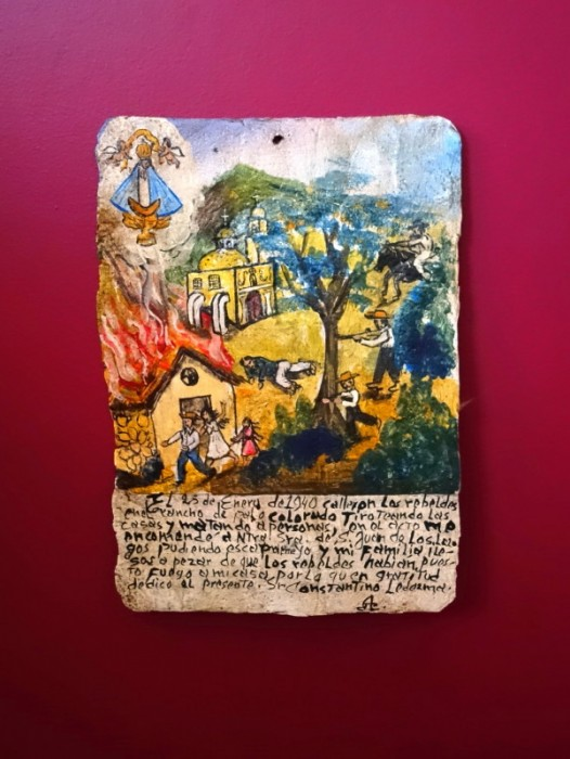 ORIGINAL EX-VOTO RETABLO OIL ON TIN ~ SAN JUAN DE LOS LAGOS