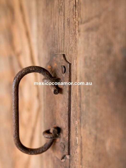 ANTIQUE DOUBLE ENTRY DOOR 3 PANEL 'WOVEN'
