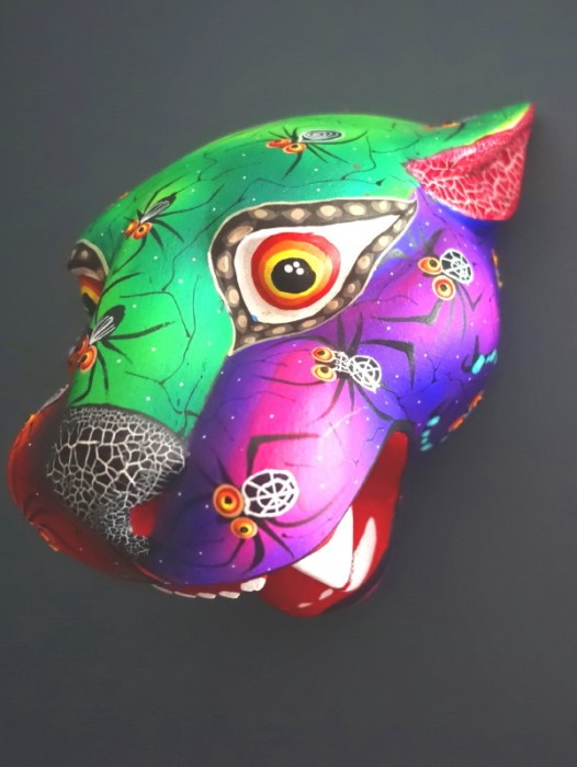 LARGE WOODEN ALEBRIJE JAGUAR HEAD