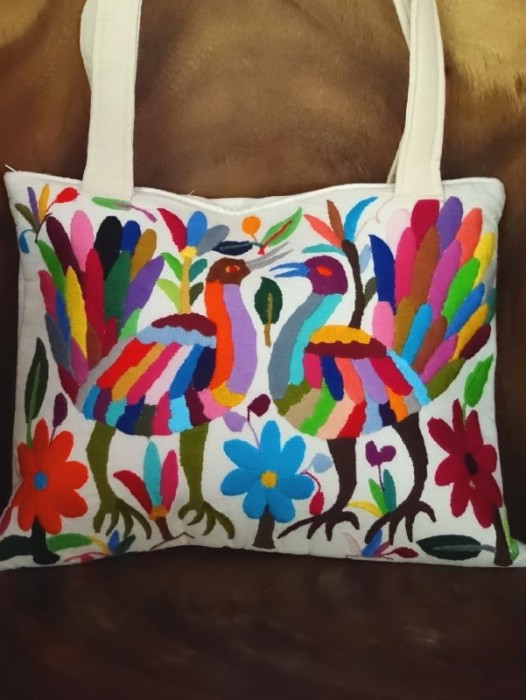 XL HAND EMBROIDERED OTOMI HANDBAG