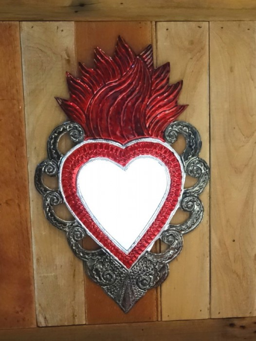 LARGE SACRED HEART MIRROR II