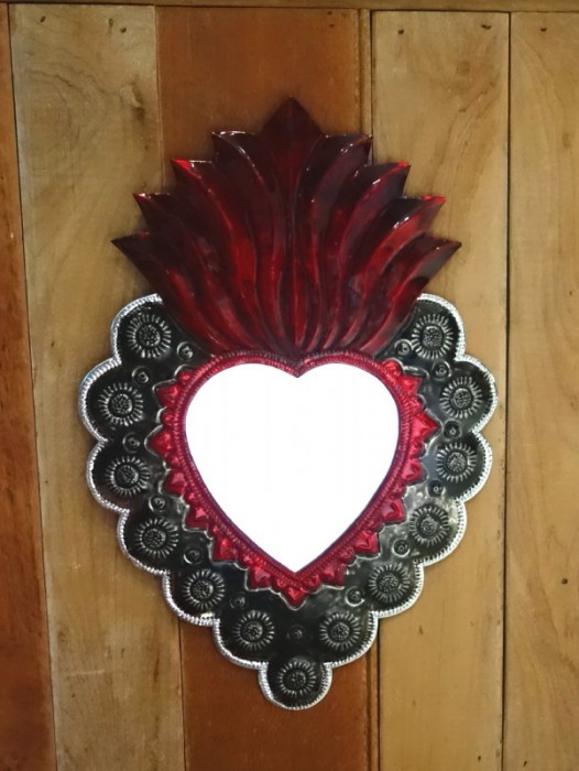 LARGE SACRED HEART MIRROR