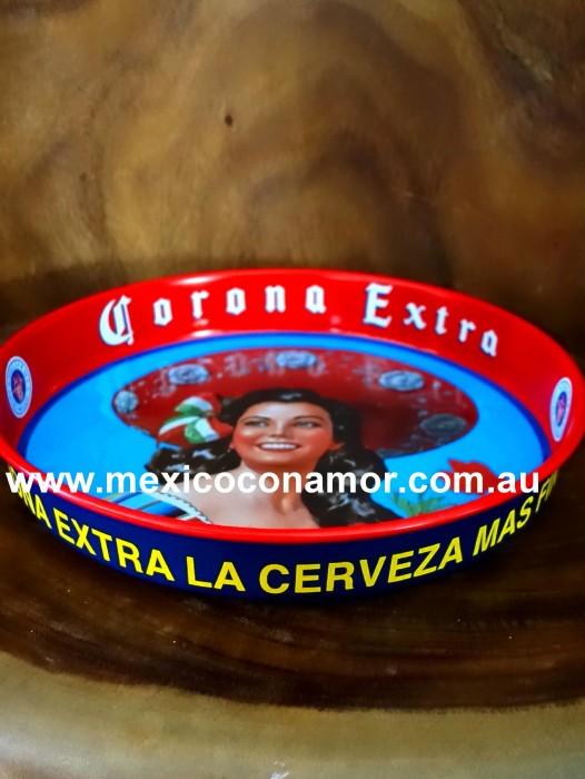 CORONA EXTRA CERVEZA (BEER) TRAY ⁓ VINTAGE / RETRO