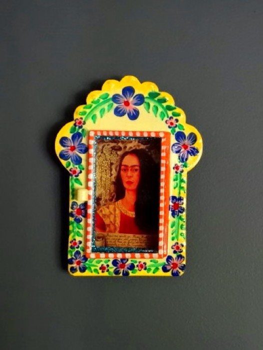 "TIN NICHO FRAME ~ FRIDA KAHLO ""REFLECTION"""